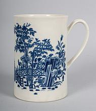 Worcester pearlware cann