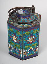 Chinese cloisonné enamel wine-warming pot