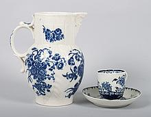 Worcester pearlware jug and cup and saucer