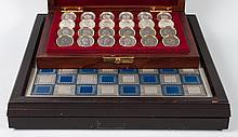 Franklin Mint Civil War checker/chess sets