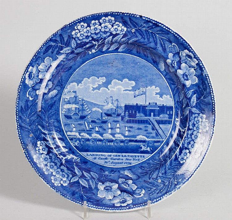 Clews historic blue plate