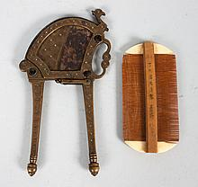 Chinese tobacco cutter and comb