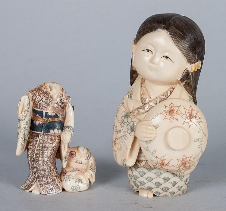 Japanese carved ivory child
