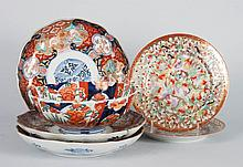 Six assorted Japanese porcelain articles
