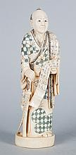 Japanese carved ivory Samurai warrior
