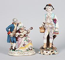 Two German porcelain figures