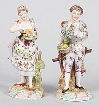 Pair of Richard Eckert & Co. porcelain figures