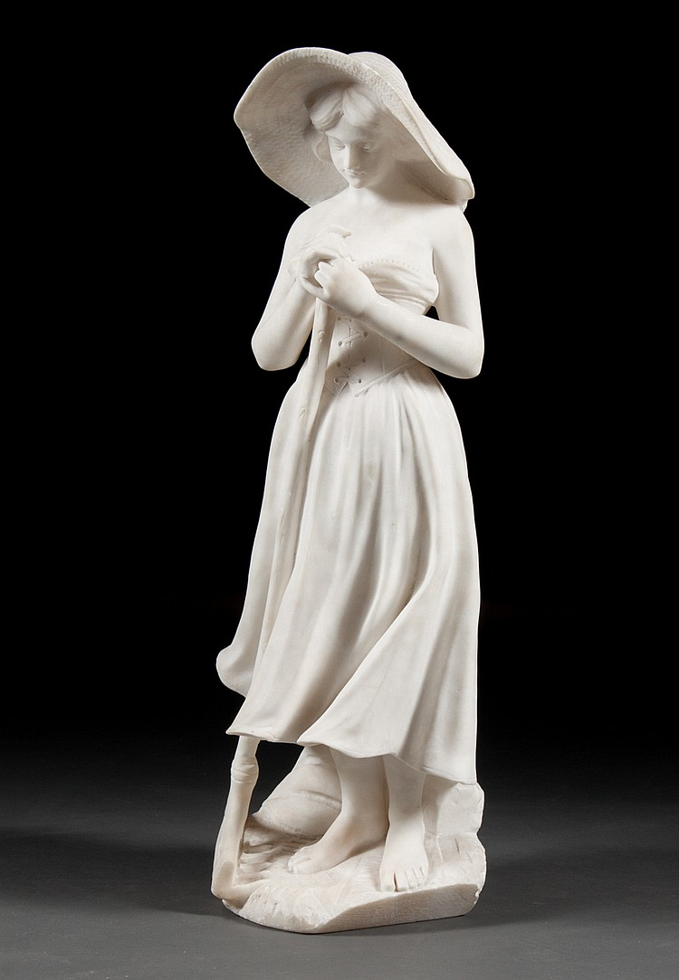 Continental marble peasant woman