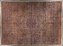 Semi-antique Lavar Kerman carpet, 13 x 17.10