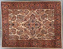 Antique Sarouk rug, 8.11 x 11.3