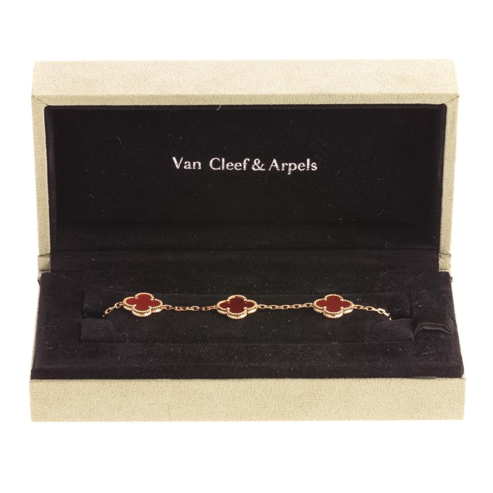 A Van Cleef & Arpels Alhambra 5 Motifs Bracelet