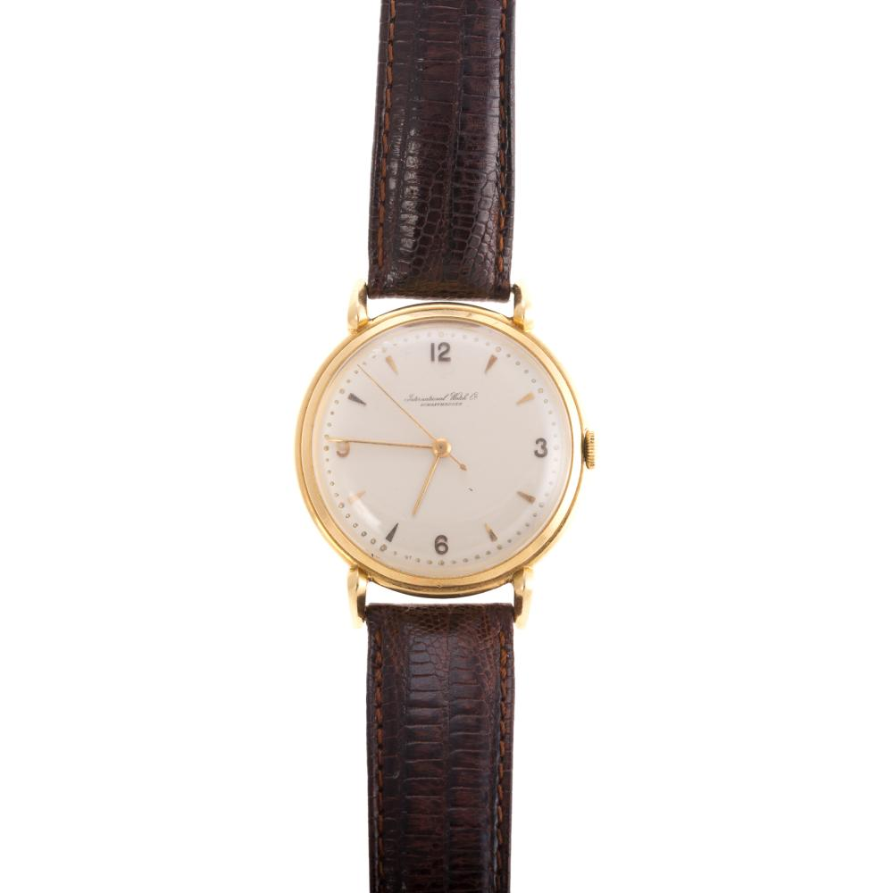 A Gentleman's IWC Watch in 18K Gold