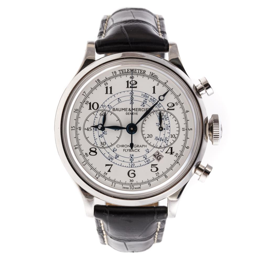 A Gent's Baume & Mercier Chronograph Flyback