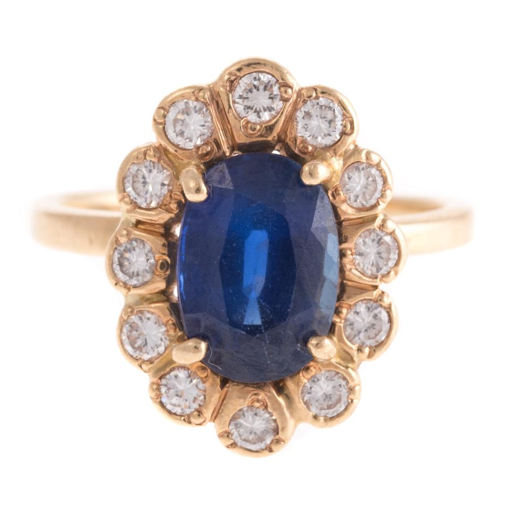 A Vintage Sapphire & Diamond Ring in 14K