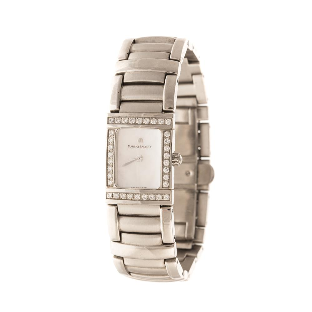 A Ladies Maurice Lacroix with Diamonds in Steel