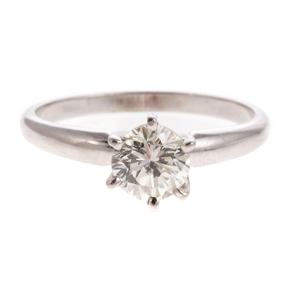 A Ladies Diamond Solitaire Engagement Ring