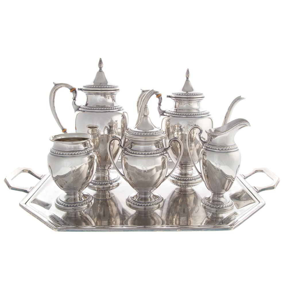 Sterling Silver 5-pc Coffee and Tea Service