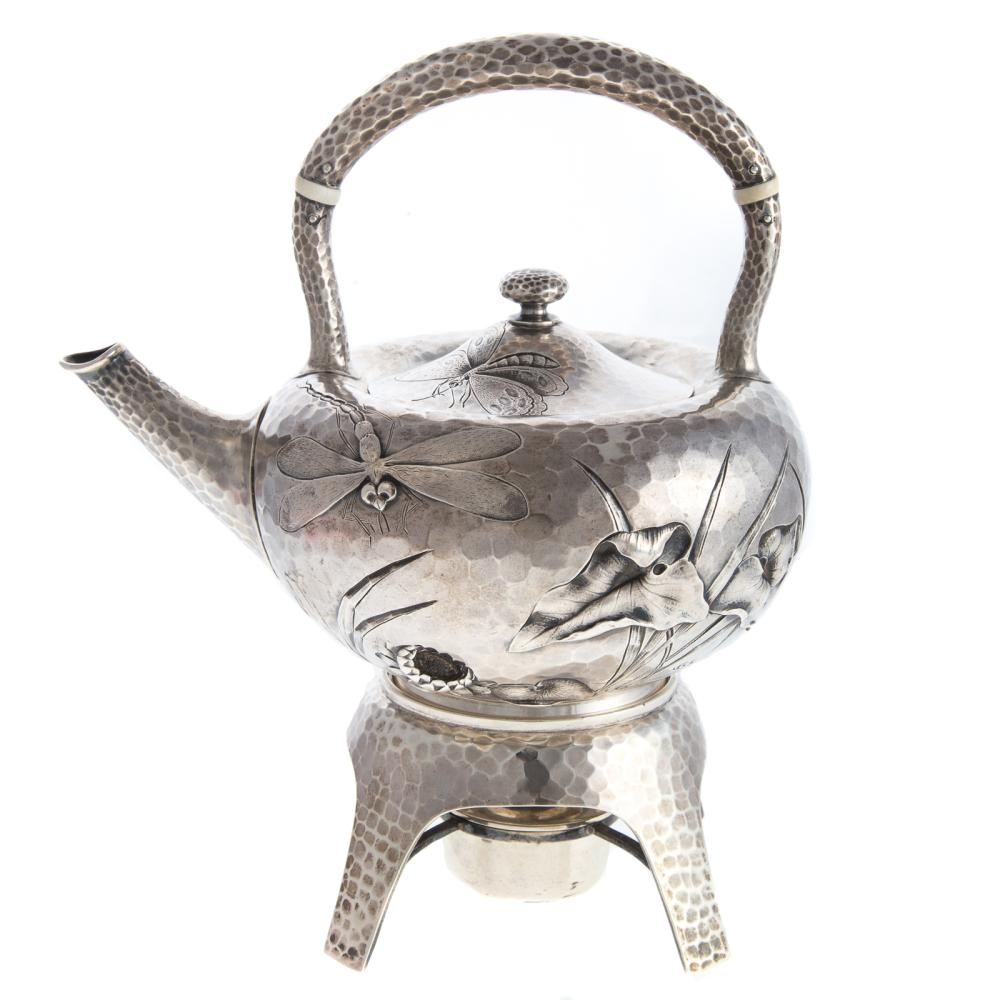 Dominick & Haff Aesthetic Sterling Teapot & Stand