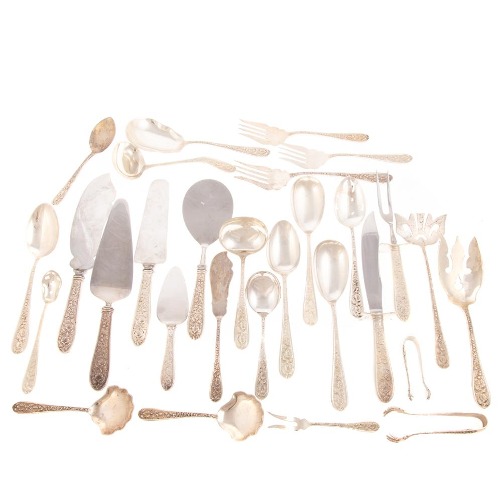"""Collection Stieff """"Corsage"""" Sterling Serving Pcs."""