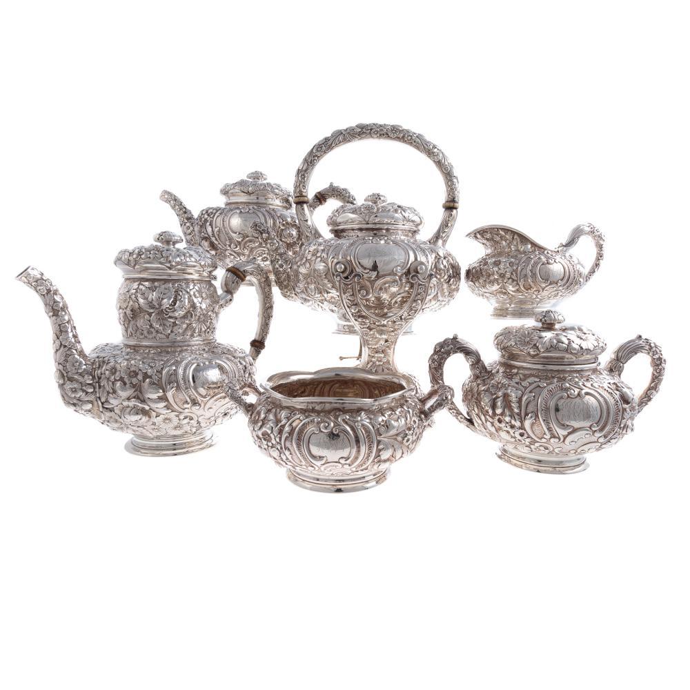 Beautiful Gorham Sterling 6-pc Coffee/Tea Service