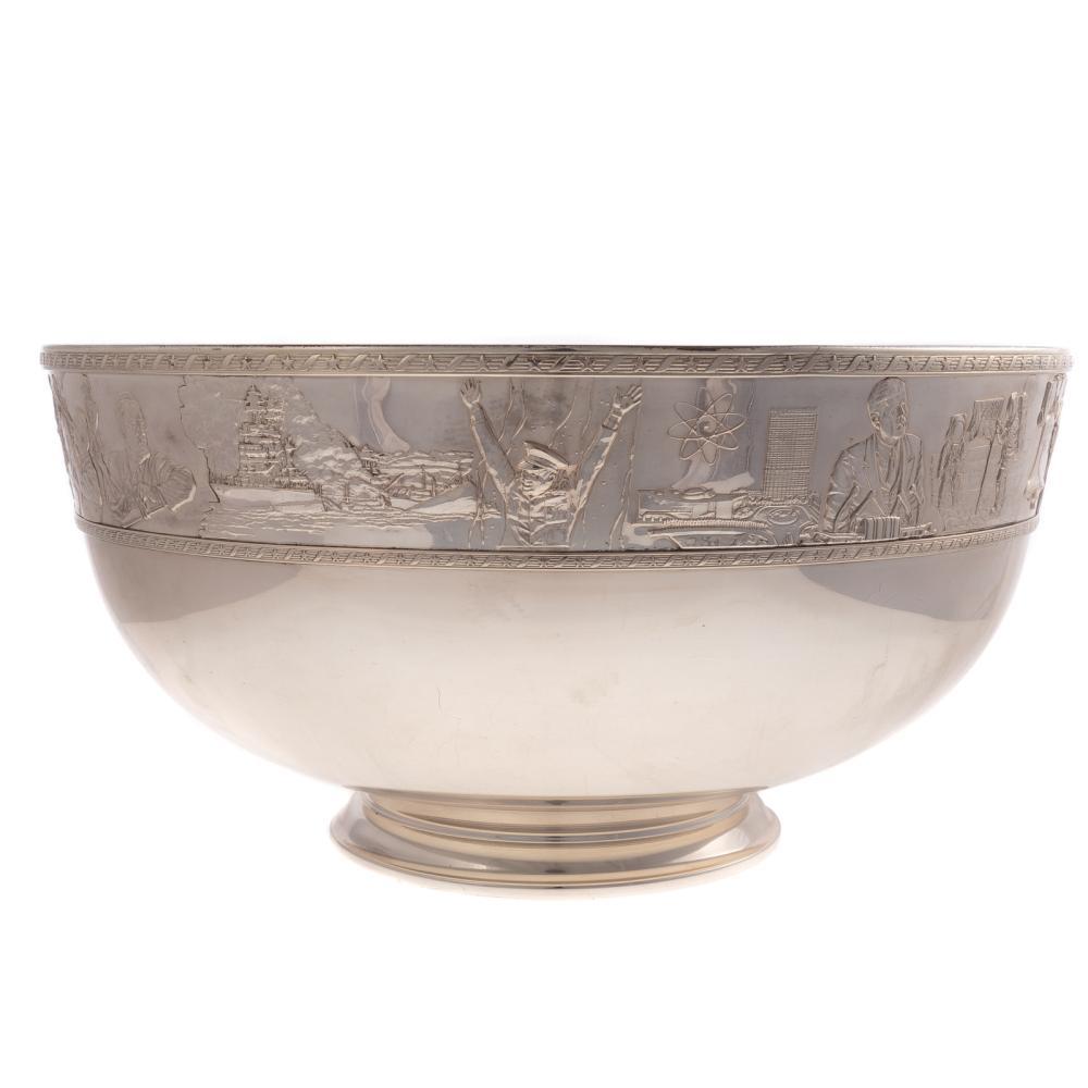 Franklin Mint Sterling & Gold Bicentennial Bowl