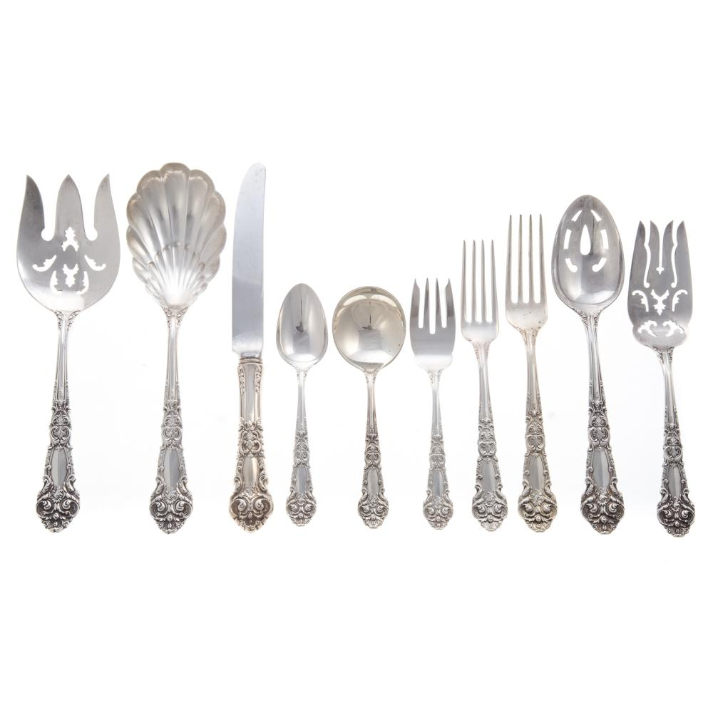 Reed & Barton Sterling Flatware Service for 12