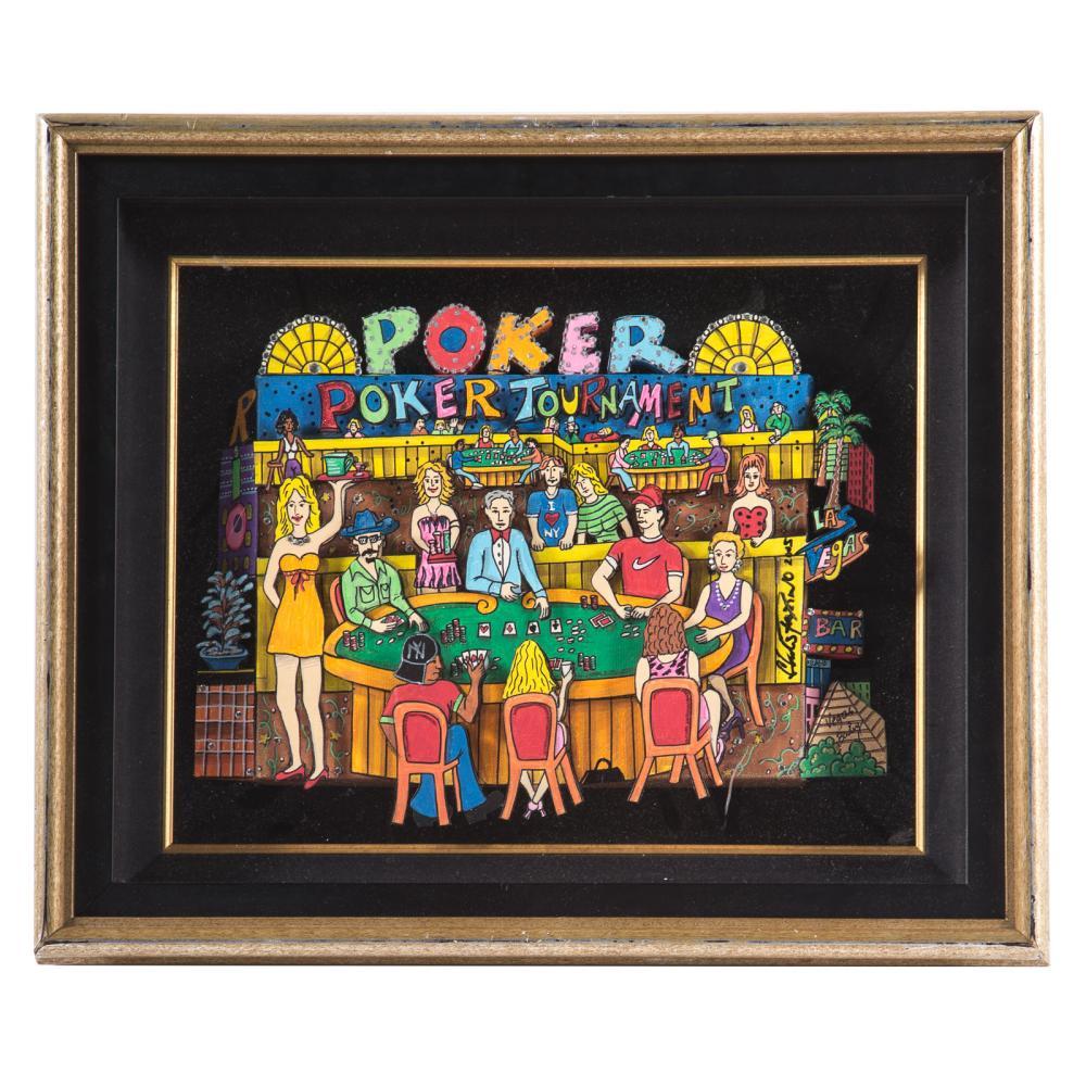 Charles Fazzino. Poker Tournament