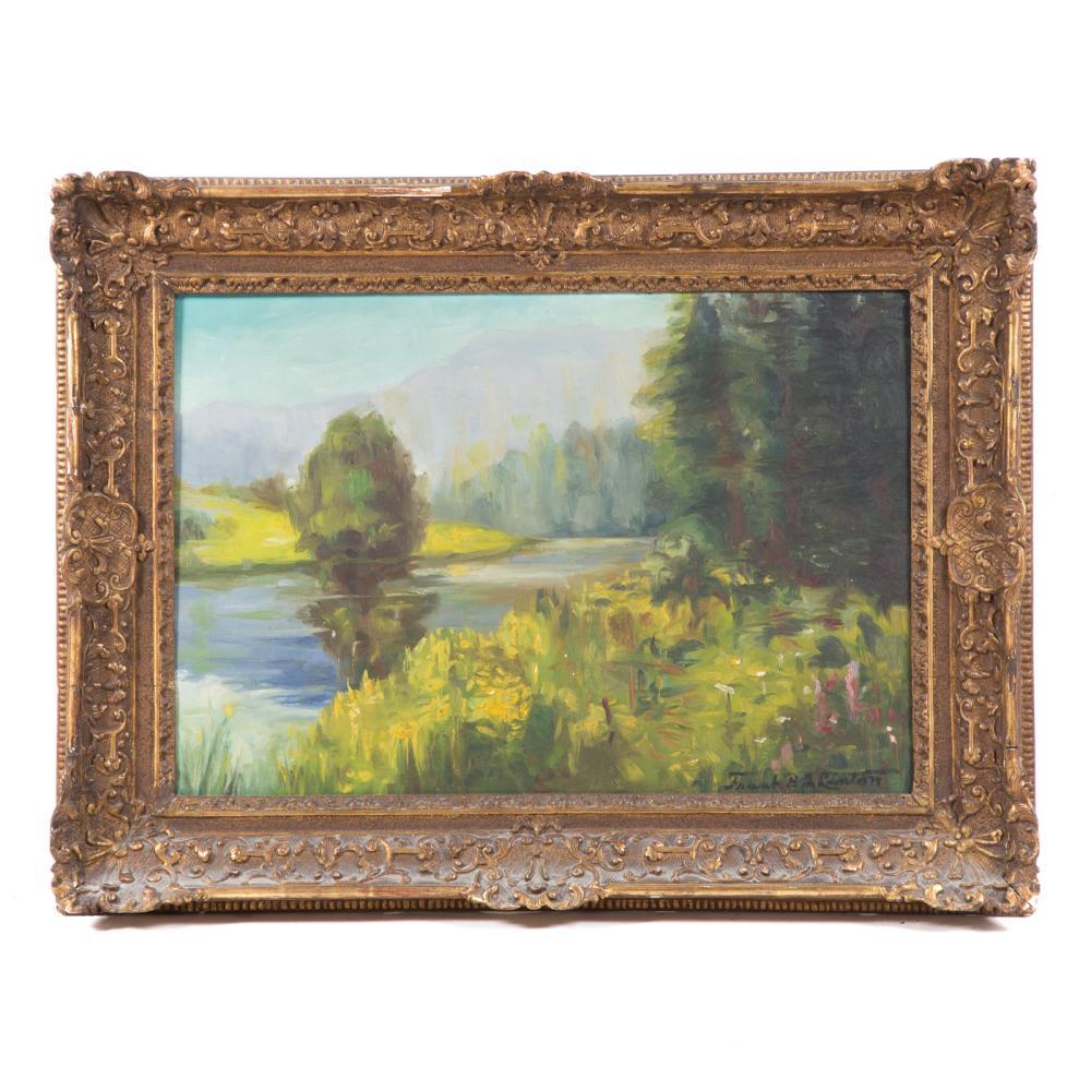Frank B. Ashley Linton. Impressionist Landscape