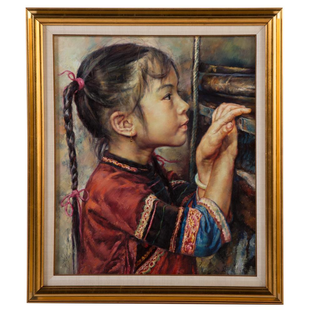 "Lo Hing Kwok, aka. Wai Ming. ""Curiosity"", oil"