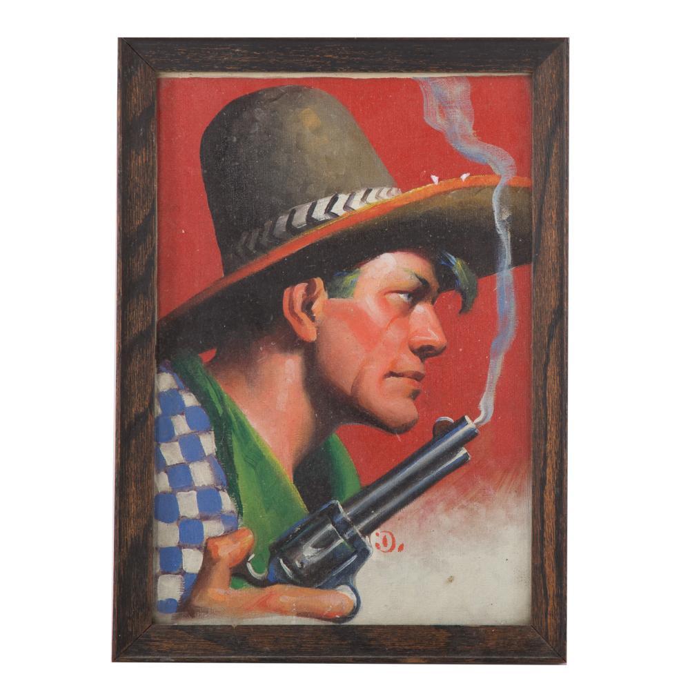 Gerard Curtis Delano. Cowboy with Smoking Gun