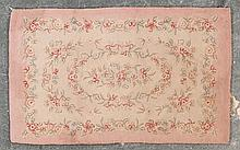 Hooked rug, approx. 3 x 4.11