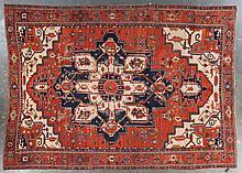 Antique Serapi carpet, approx. 9.8 x 13.1