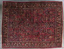 Antique Sarouk carpet, approx. 8.11 x 11.5