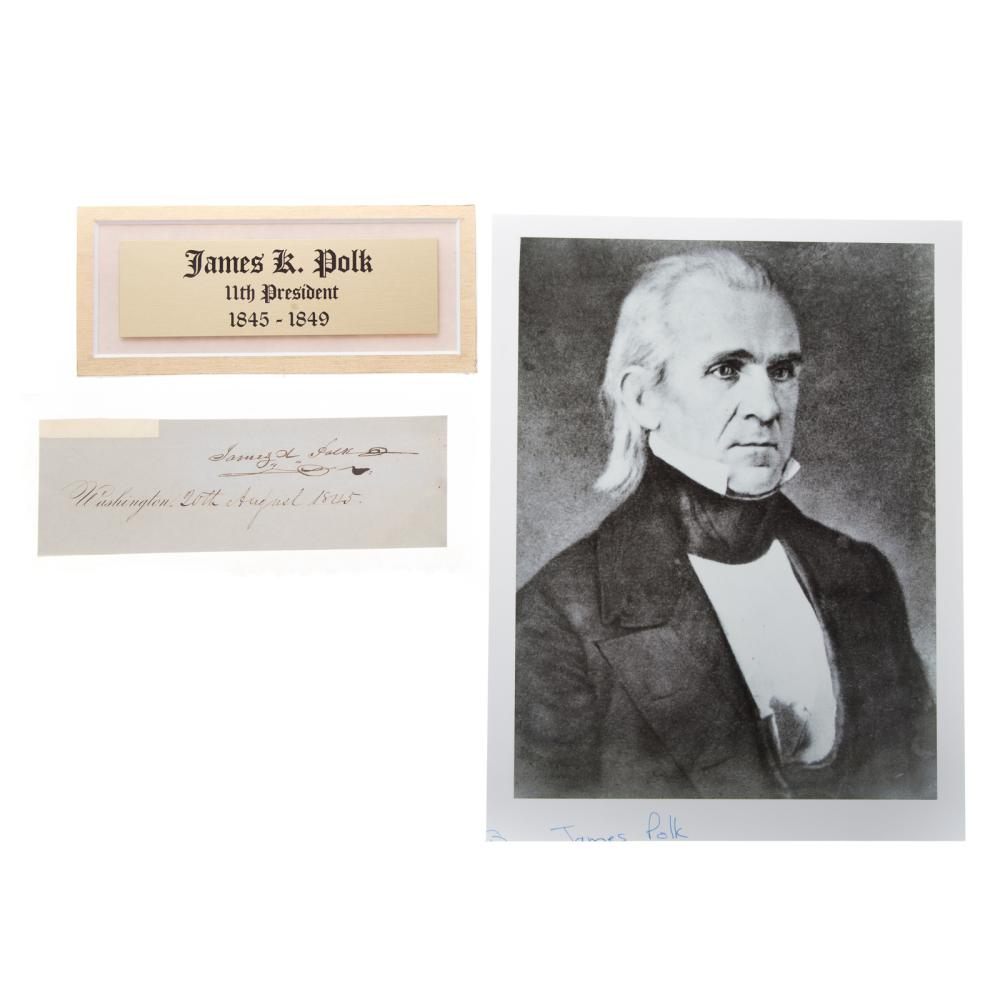 James knox polk signature for Alex cooper real estate auctions