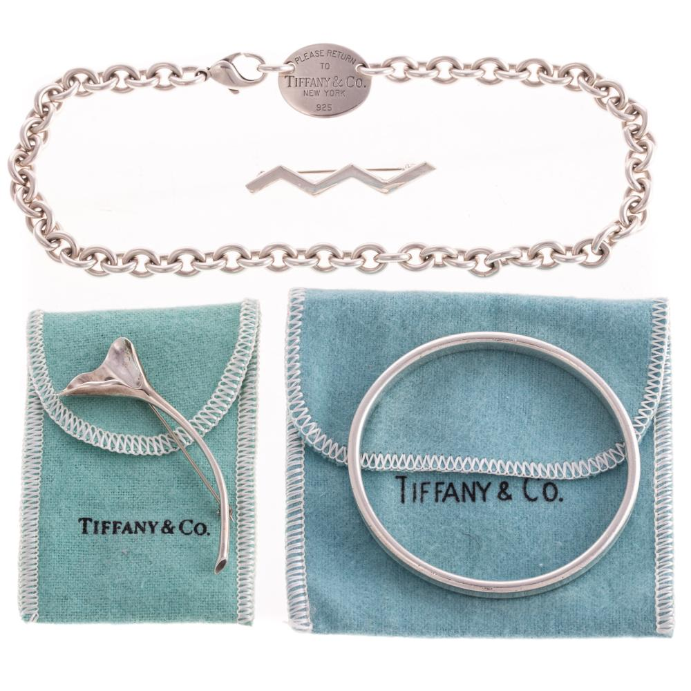 A Collection of Ladies Tiffany & Co Silver Jewelry