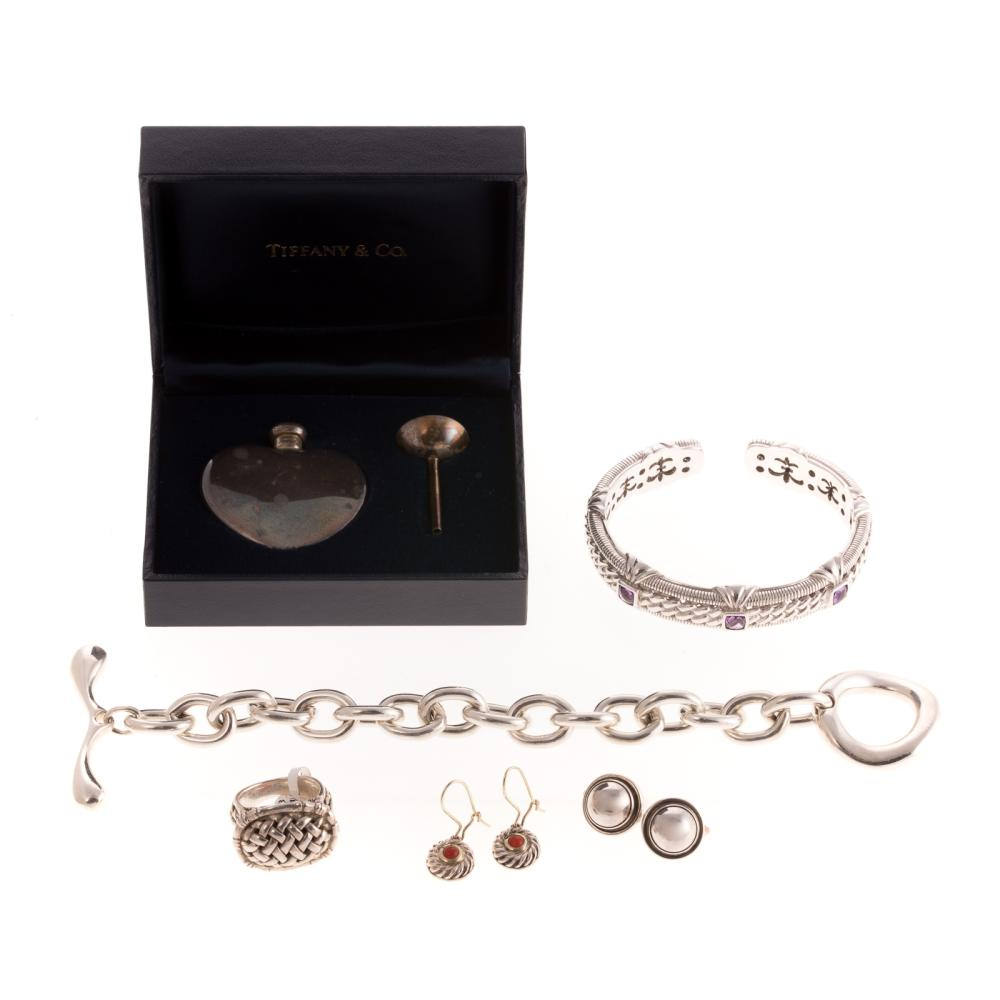 A Collection of Designer Silver Jewelry