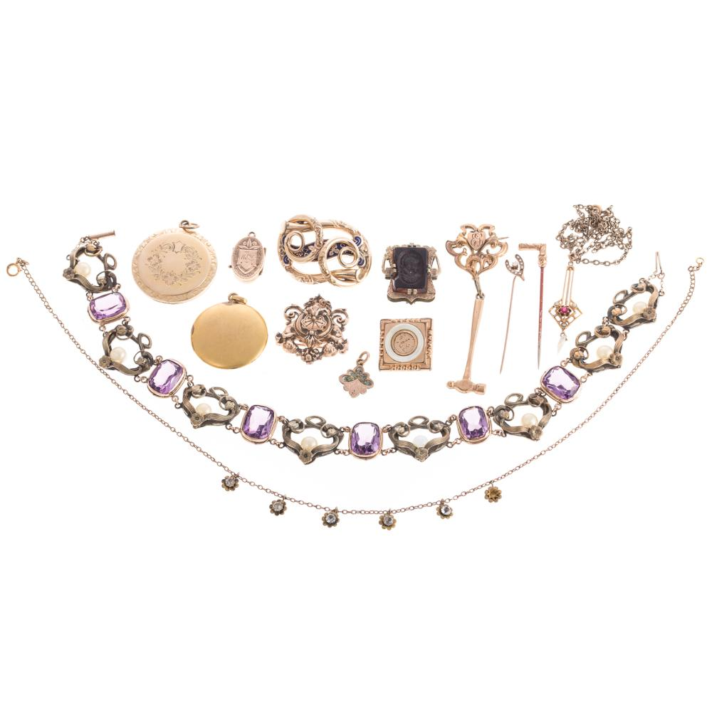 A Collection of Victorian & Art Nouveau Jewelry