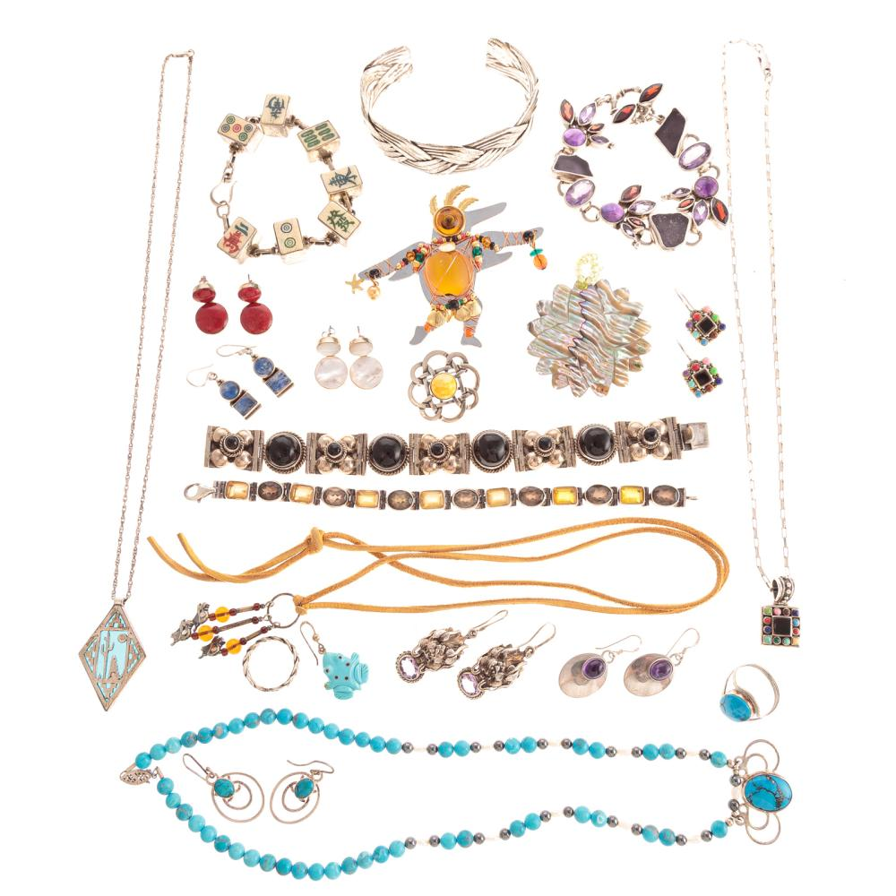 A Selection of Sterling Silver Jewelry