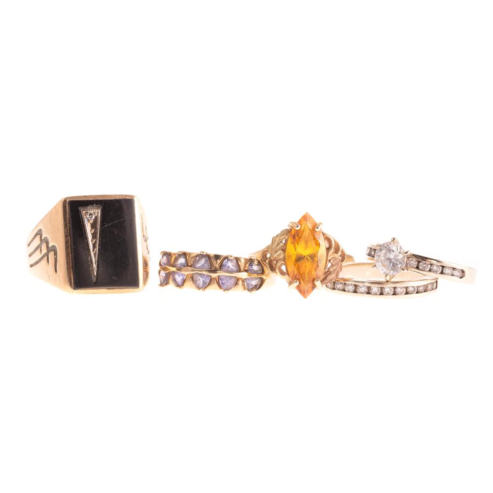 A Collection of Gemstone Rings in 14K & 10K