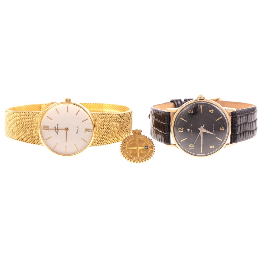 A Gent's Lot with Tiffany & Co. Tie Tack in 14K