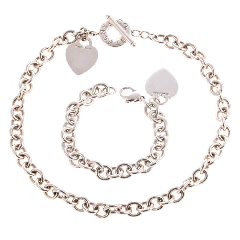 A Tiffany & Co. Necklace & Bracelet in Sterling