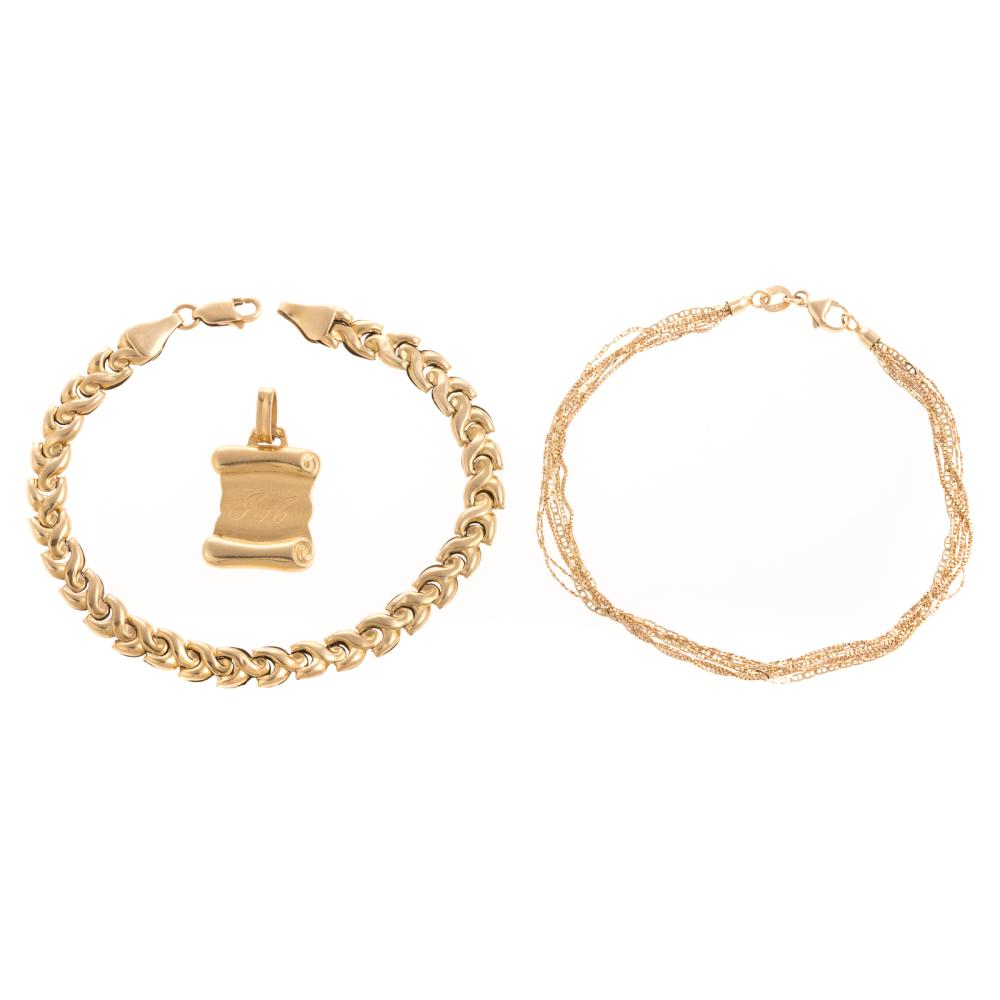 A Collection of Ladies 18K Jewelry