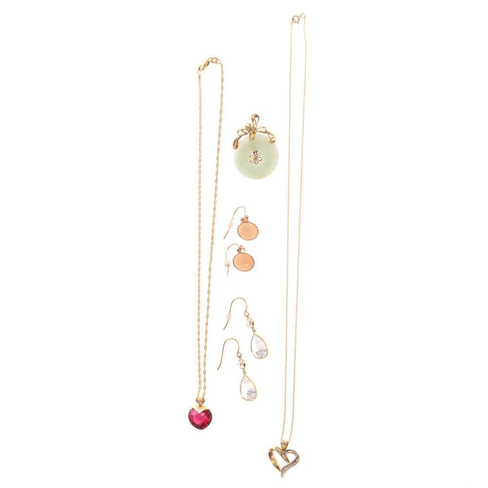 An Assortment of Gemstone Earrings & Pendants