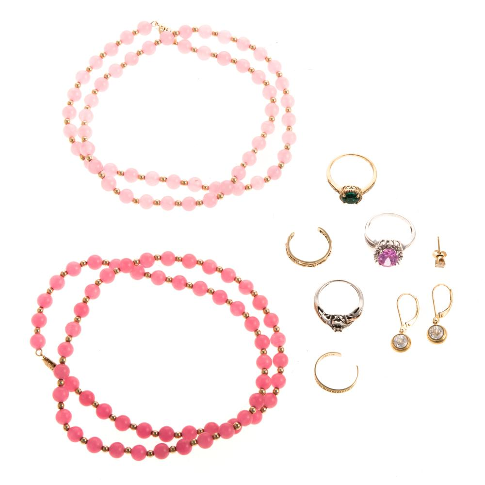 A Selection of Ladies Jewelry in 14K and 10K