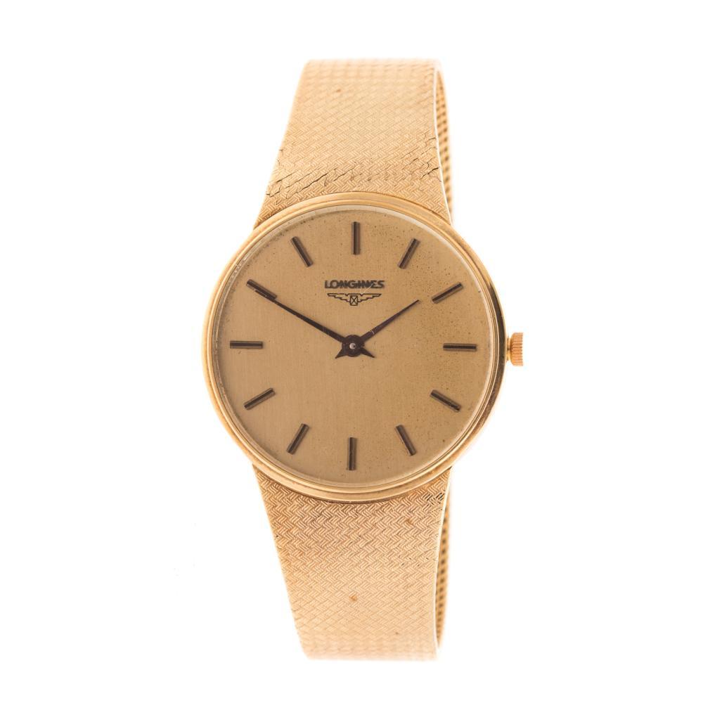 A Gentleman's Longines Watch in 14K Gold