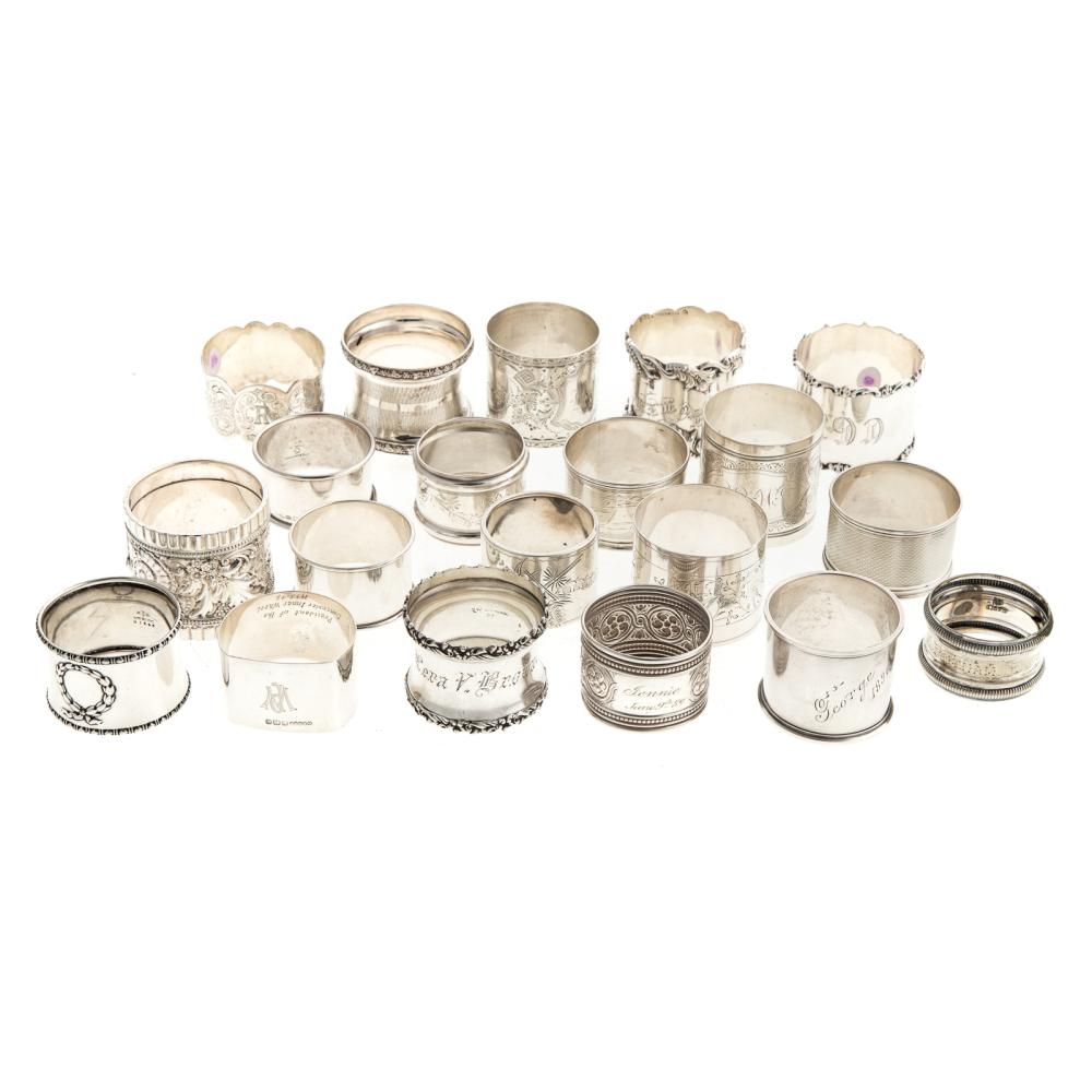 American & Continental Silver Napkin Rings