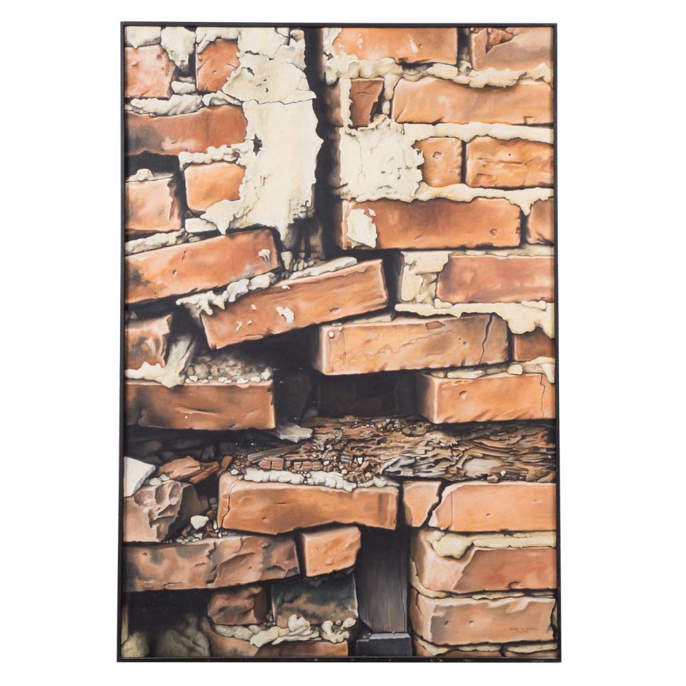 "James W. Voshell. ""Broken Bricks with Mortar"""