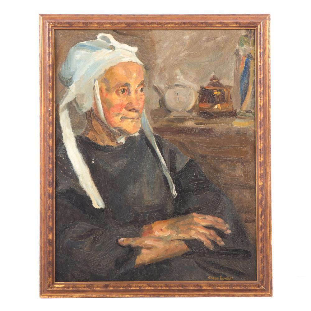 Grace Hill Turnbull. Portrait of an Elderly Lady