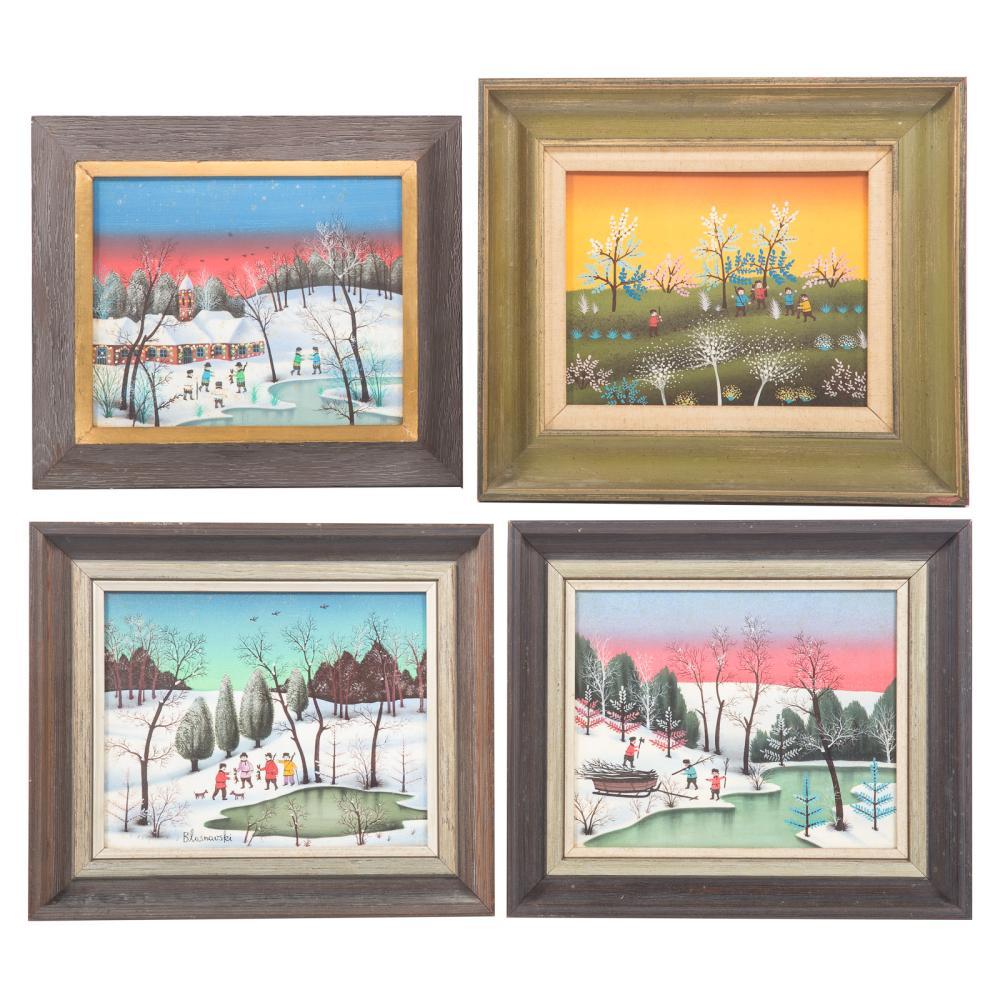 Marco Blasnavski. Four oils on canvas