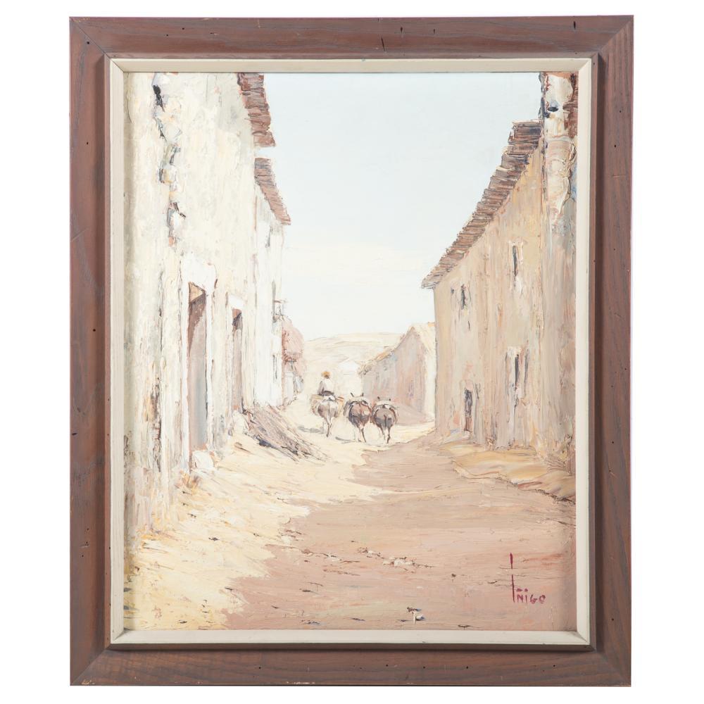 Manuel de Inigo. Traveler in a Village